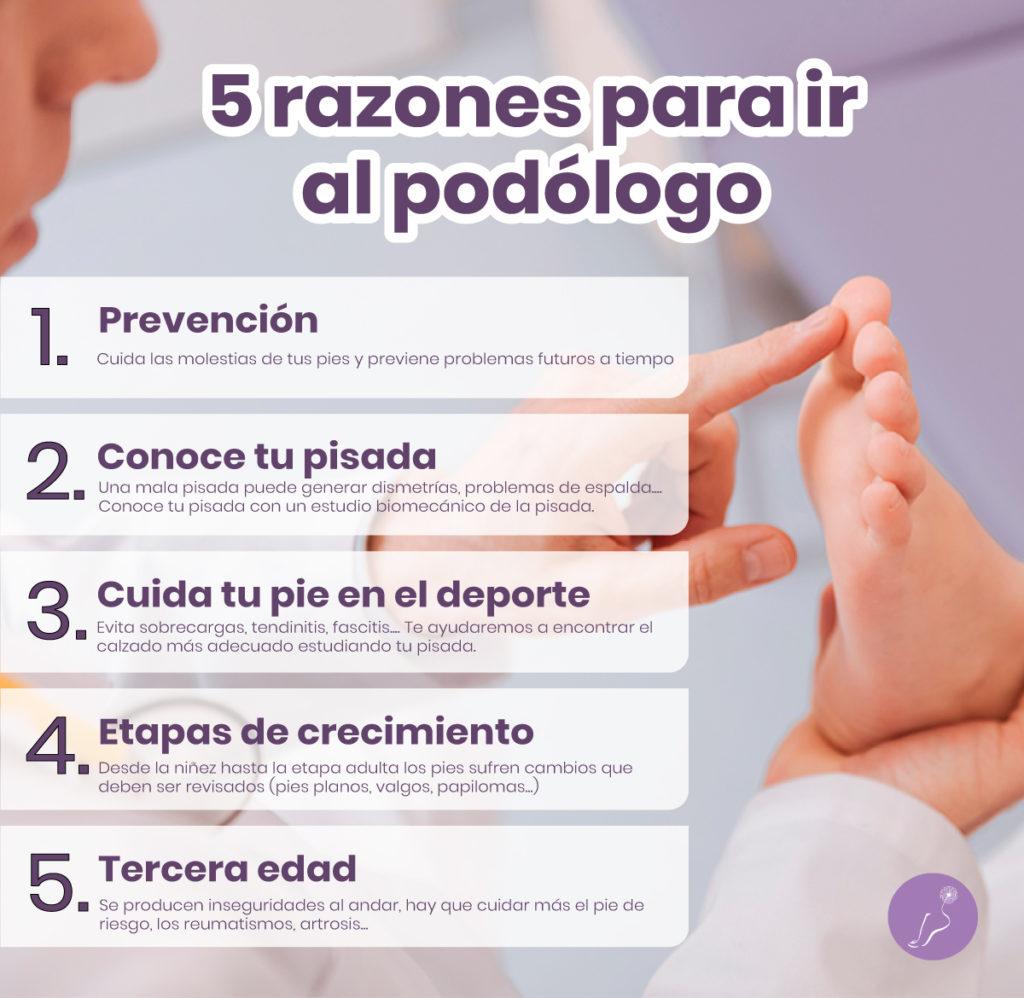 5 razones para ir al podologo